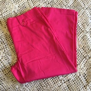 THE LIMITED PINK CROPPED PANTS SIZE 4 NWOT